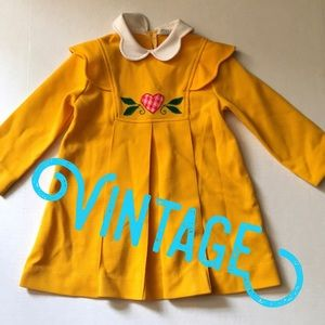 Vintage 1950-60's Sears Perma Prest Yellow Dress